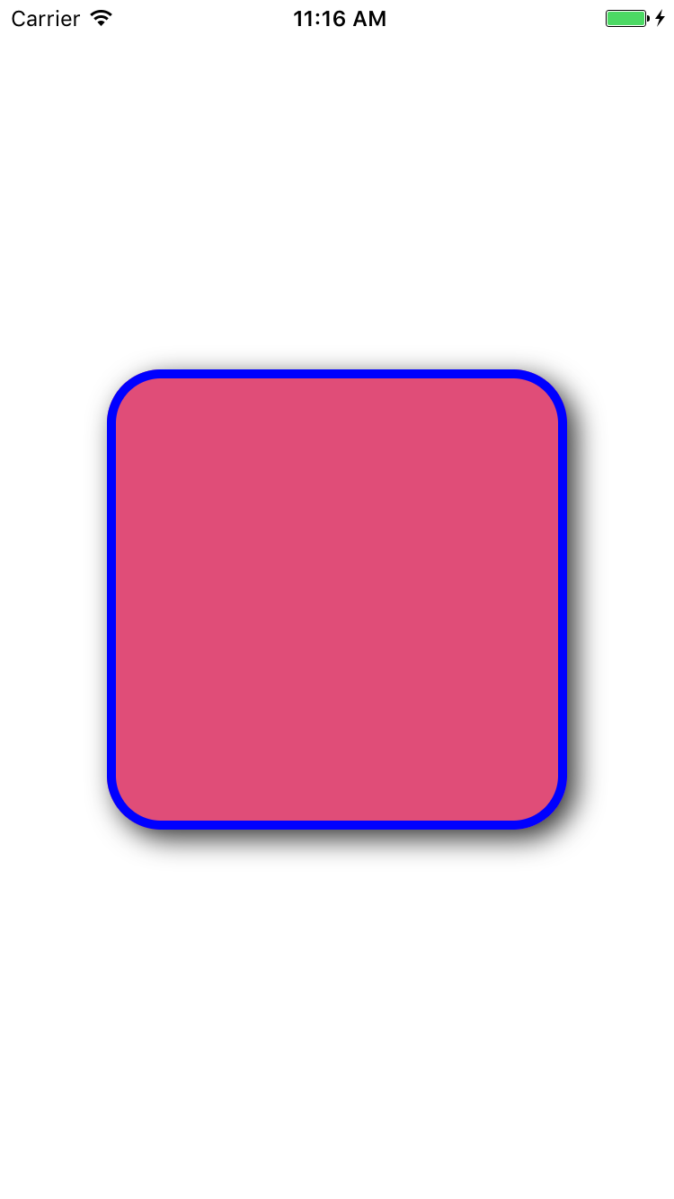 Add rounded corners to view using CALayer