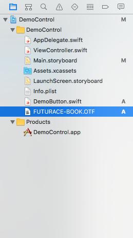 custom font Xcode